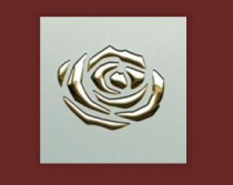 3D ROSES/Champagne PF met/Gold